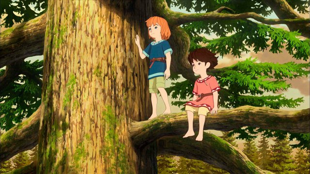 An image of a scene from the Studio Ghibli series Ronja the Robber's Daughter.