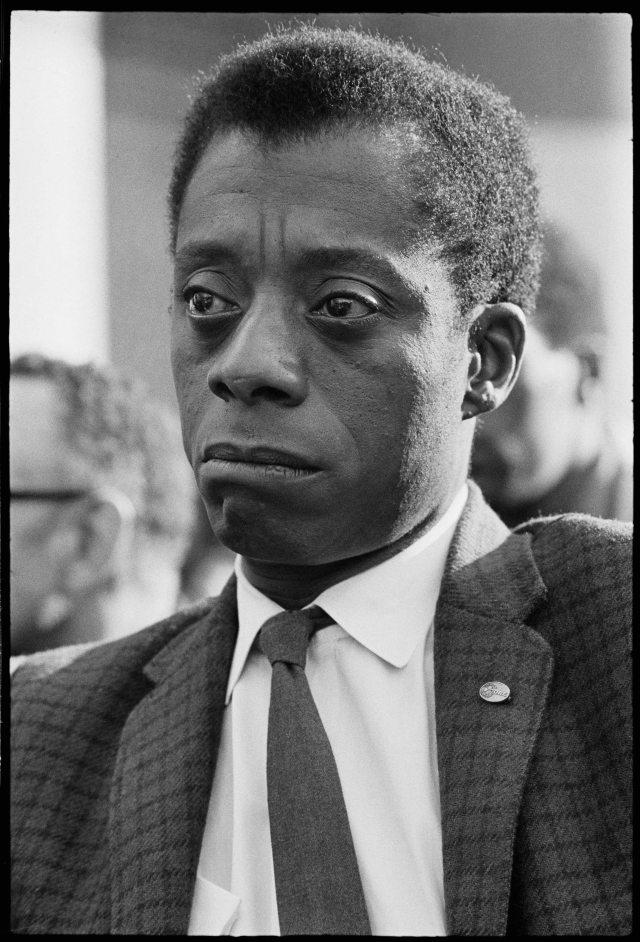 Photo of writer James Baldwin