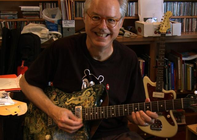 Image of musician Bill Frisell in a scene from the documentary Bill Frisell: A Portrait.