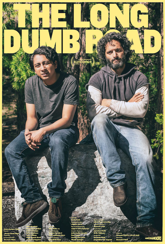 An image of the Sundance Film Festival poster for The Long Dumb Road.